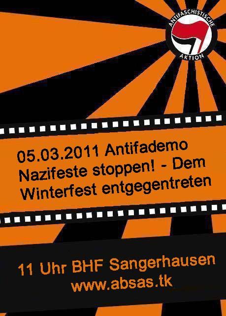 Demo Antifa Winterfest Sangerhausen Gegendemo